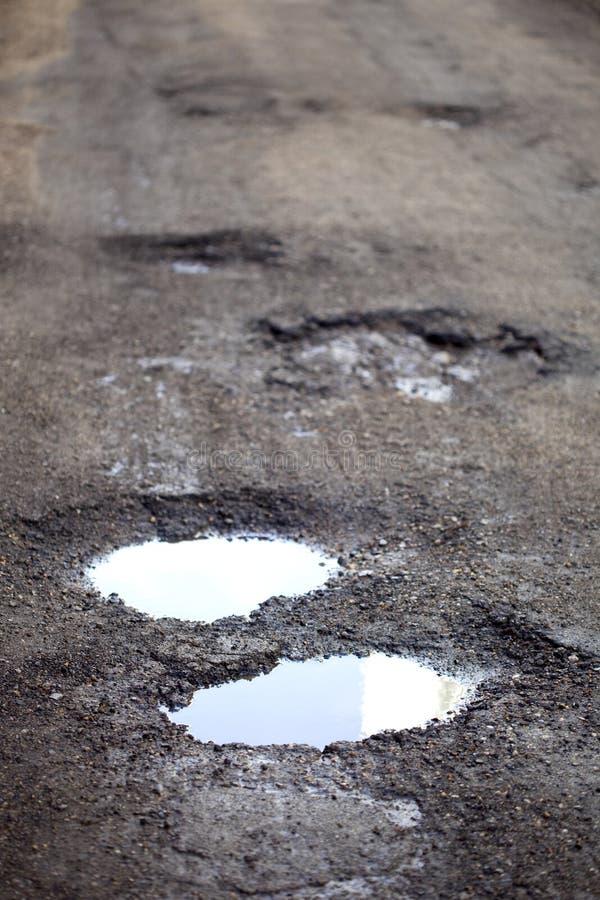 Potholes stock images