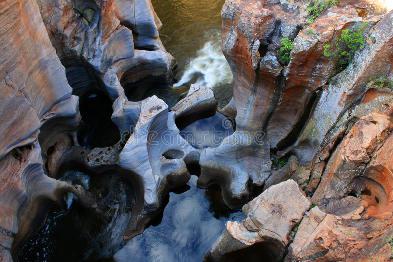Potholes South Africa royalty free stock photos
