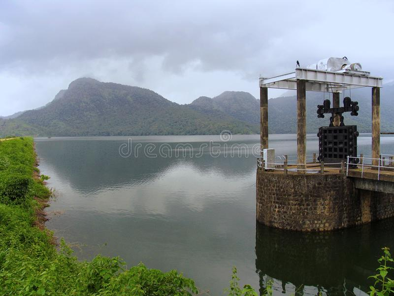 Pothundi水库, Nelliyampathy小山,帕拉克卡德 免版税库存照片
