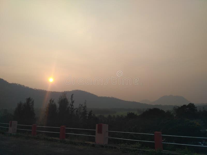 Pothundi de coucher du soleil @ photographie stock