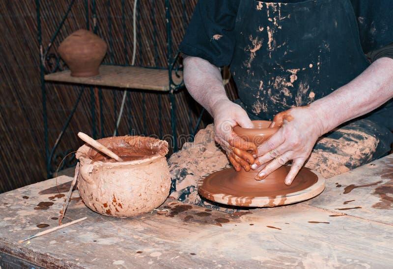 Potier d'artisan photographie stock