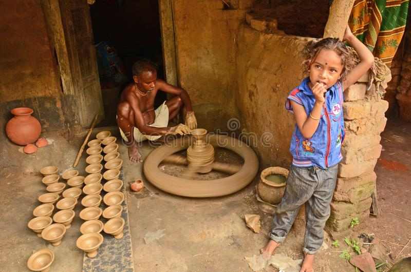 Potier indien image stock