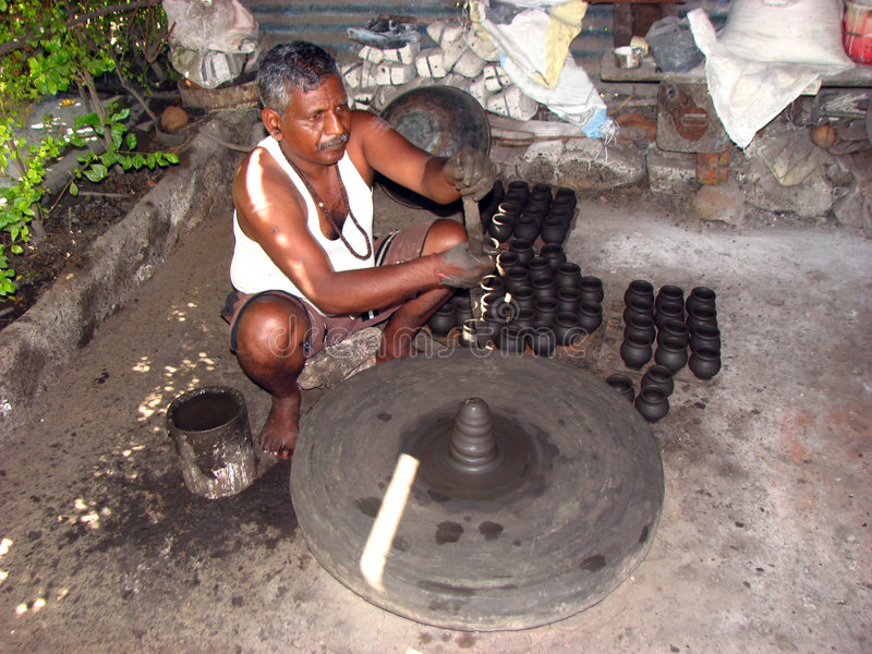 Potier indien photographie stock