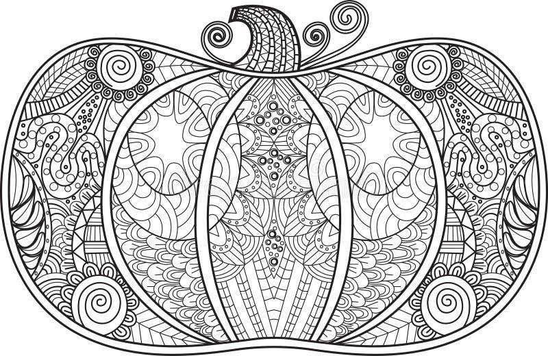 Potiron abstrait avec le détail élevé pour livre de coloriage photo stock