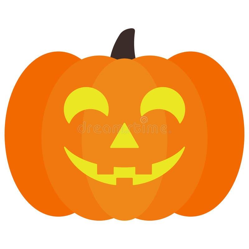 Potiron allumé de lanterne de ` de Halloween Jack O illustration libre de droits