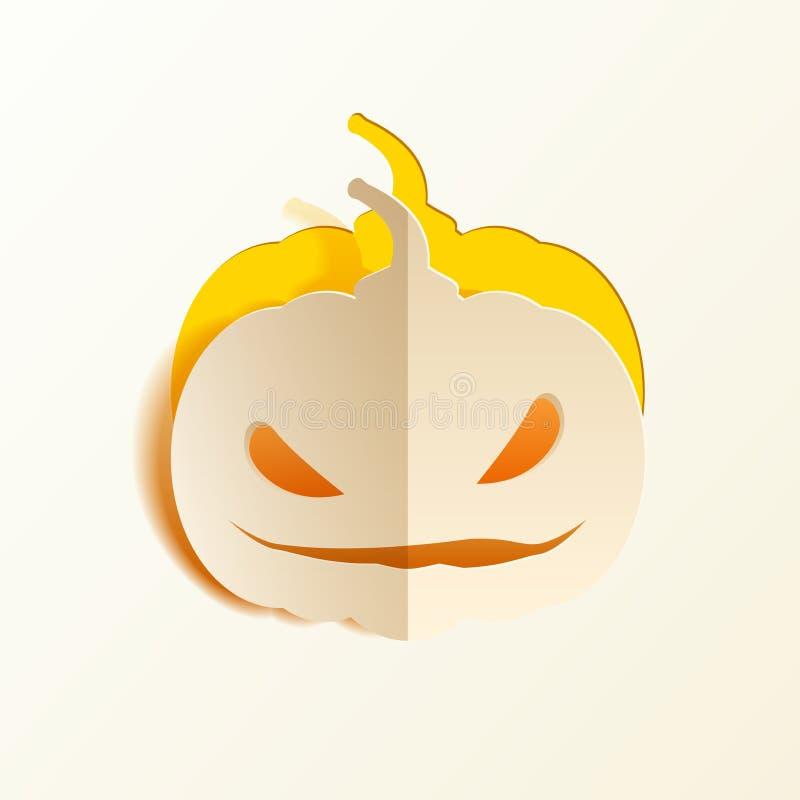 Download Potiron coupé du papier illustration de vecteur. Illustration du élément - 45372406