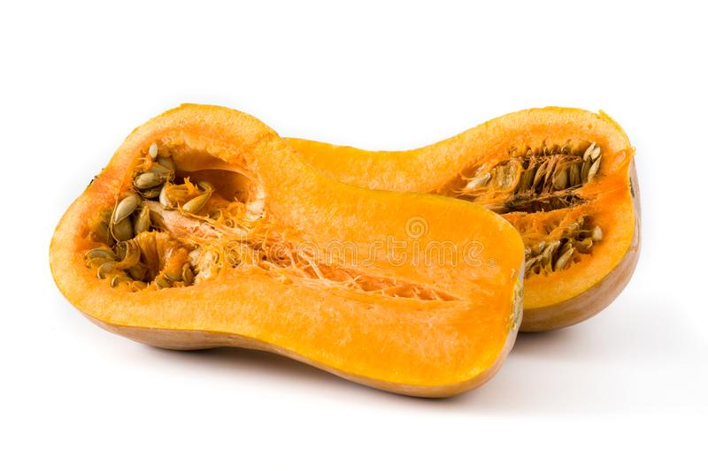 Potiron de Butternut d'isolement image stock