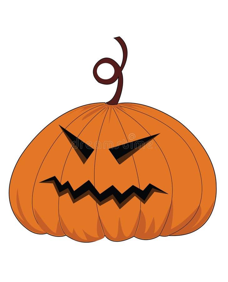Potiron de Halloween de vecteur photos stock
