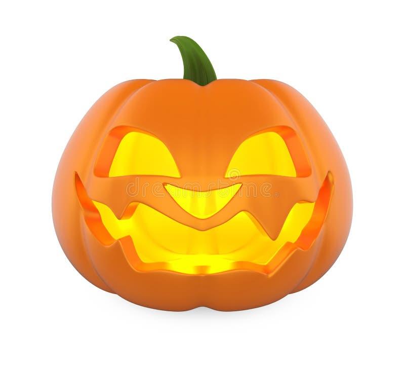 Potiron de Halloween de lanterne de Jack O d'isolement illustration stock