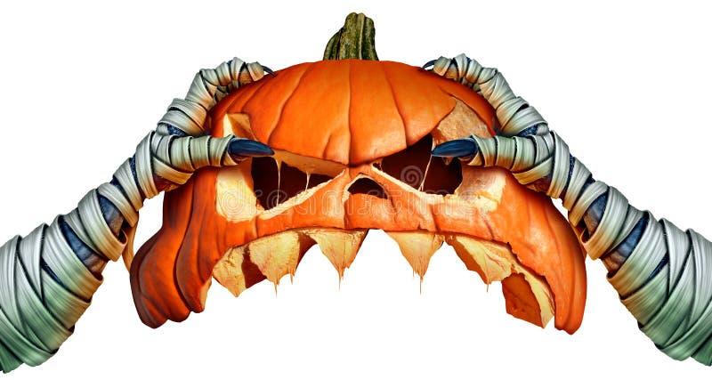 Potiron de Halloween de monstre de maman illustration stock