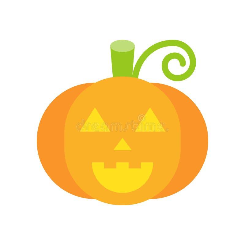 Potiron de sourire, lanterne du cric o, icône de jeu de caractères de Halloween, fla illustration stock