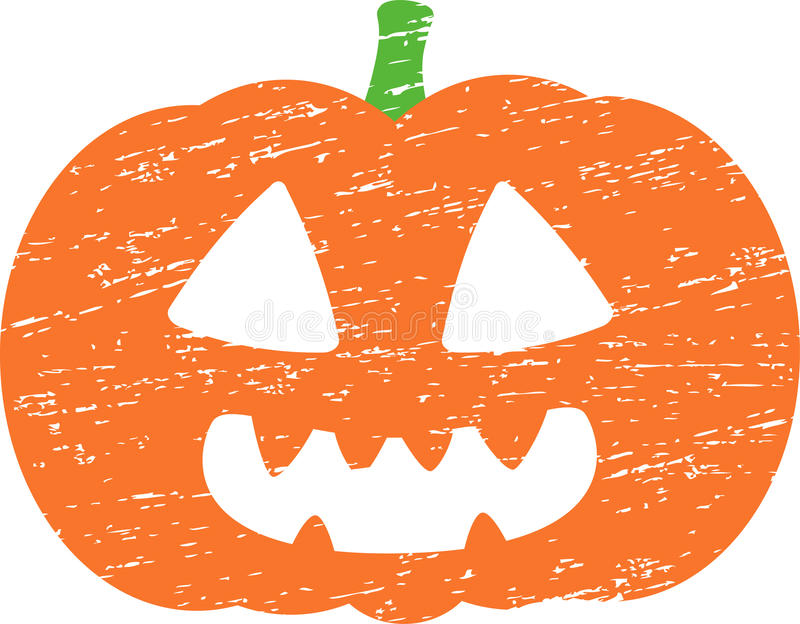 Potiron grunge de Halloween illustration de vecteur