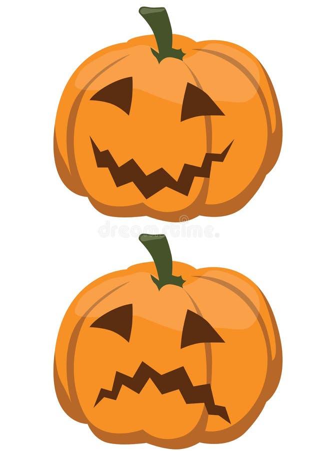 Potiron heureux et malheureux de Halloween illustration libre de droits