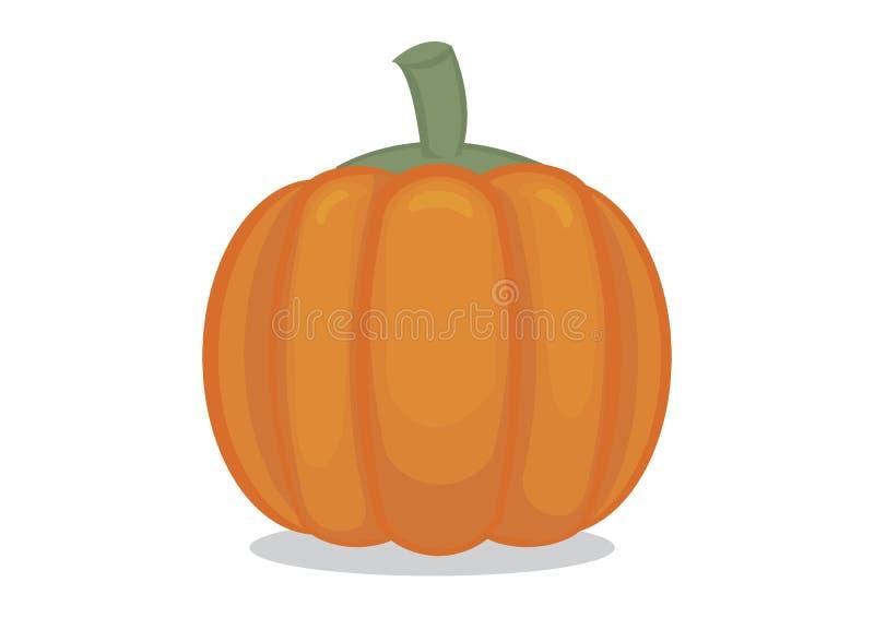 Potiron orange lumineux Usine d'Organice pour la nourriture Peut être l'utilisation pour le concept de Halloween Illustration d'i illustration stock