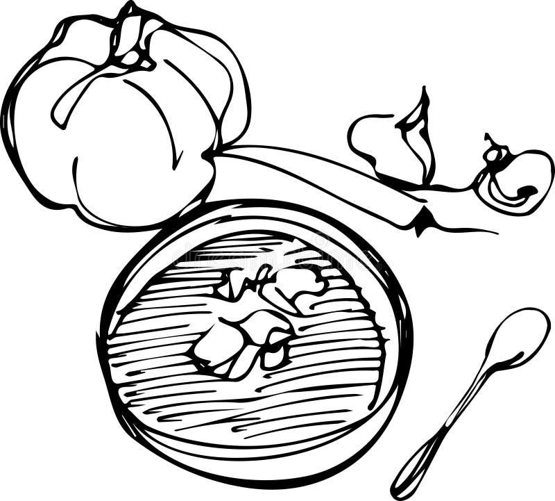 Download Potiron sur le fond blanc illustration de vecteur. Illustration du ferme - 45370706