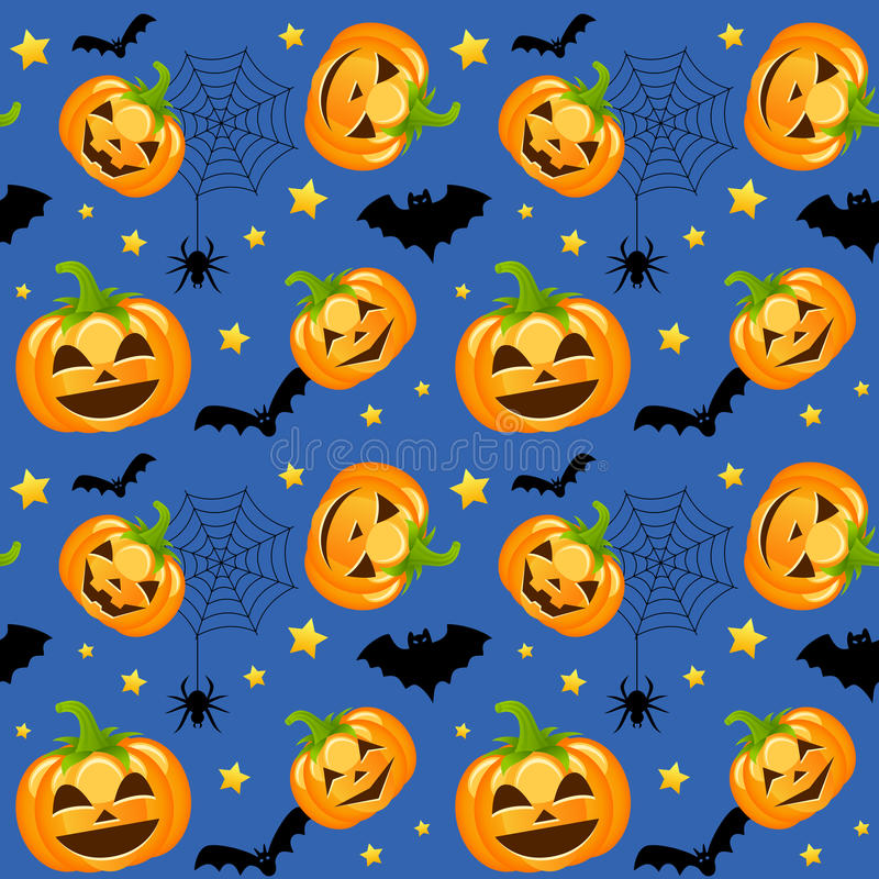 Potirons de Halloween sans couture illustration stock