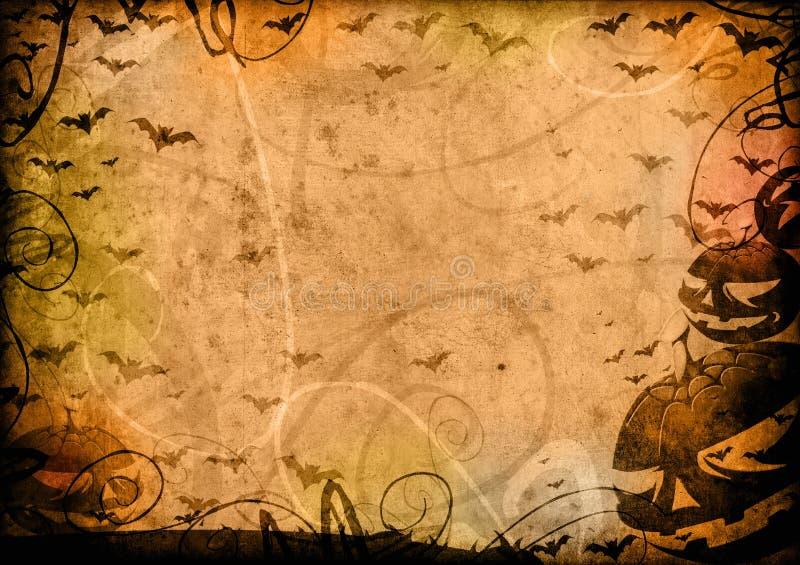 Potirons et fond de cru de veille de la toussaint de 'bat' illustration libre de droits
