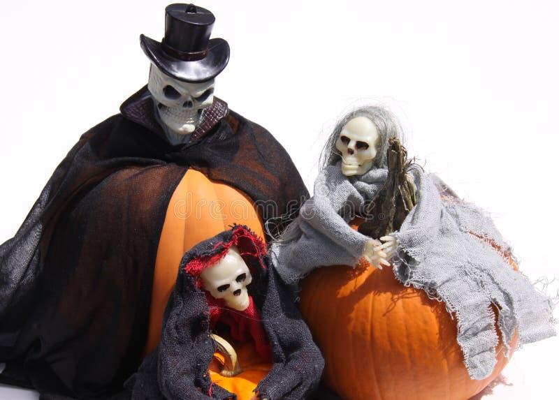 potirons fantomatiques de halloweens image stock