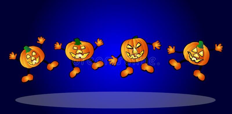 potirons heureux illustration de vecteur