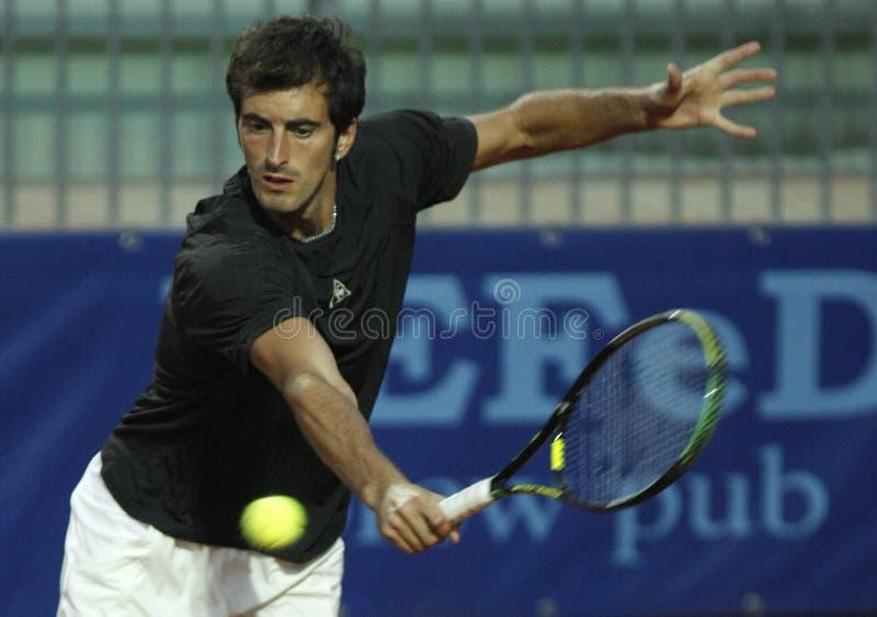 Potito Starace returns the ball royalty free stock photos