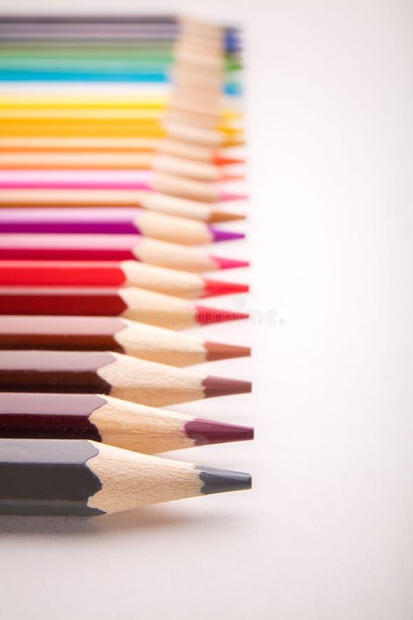 Potloden alle kleuren royalty-vrije stock foto