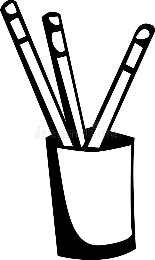 Potloden in een pot vector illustratie