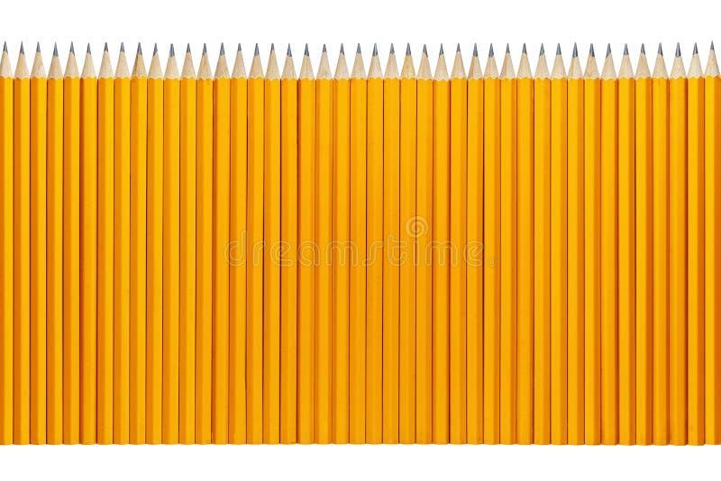 Potloden op een rij royalty-vrije stock afbeeldingen