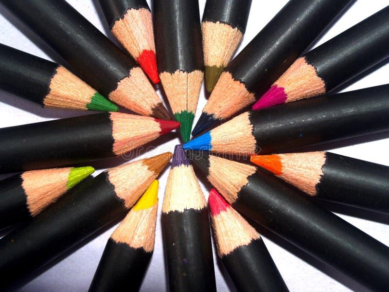 Potlood 12 van de kleur royalty-vrije stock afbeeldingen