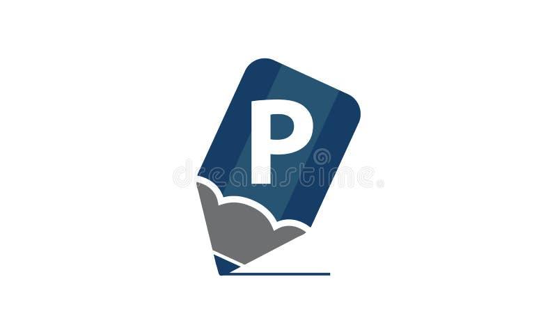 Potlood Aanvankelijk P vector illustratie