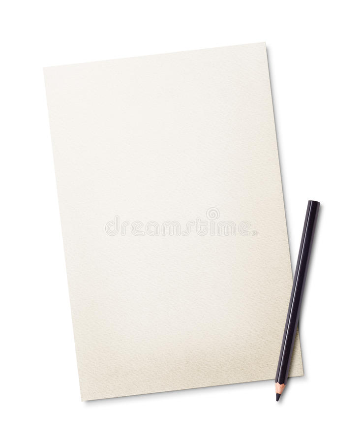 Potlood en document royalty-vrije stock fotografie