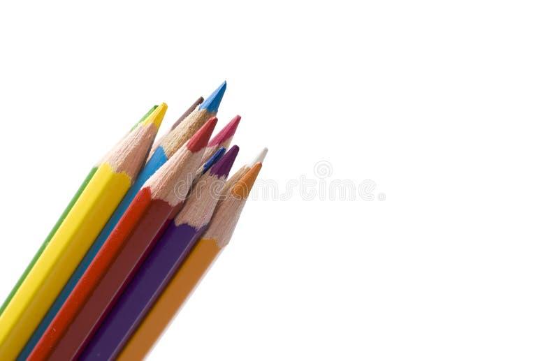 Potlood en kleur stock fotografie