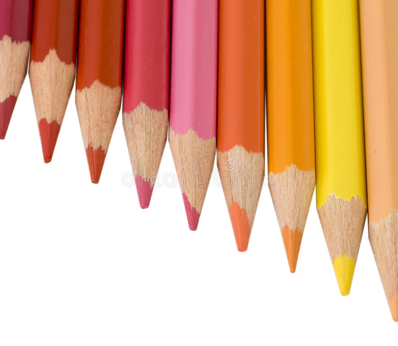 Potlood en kleur stock afbeelding