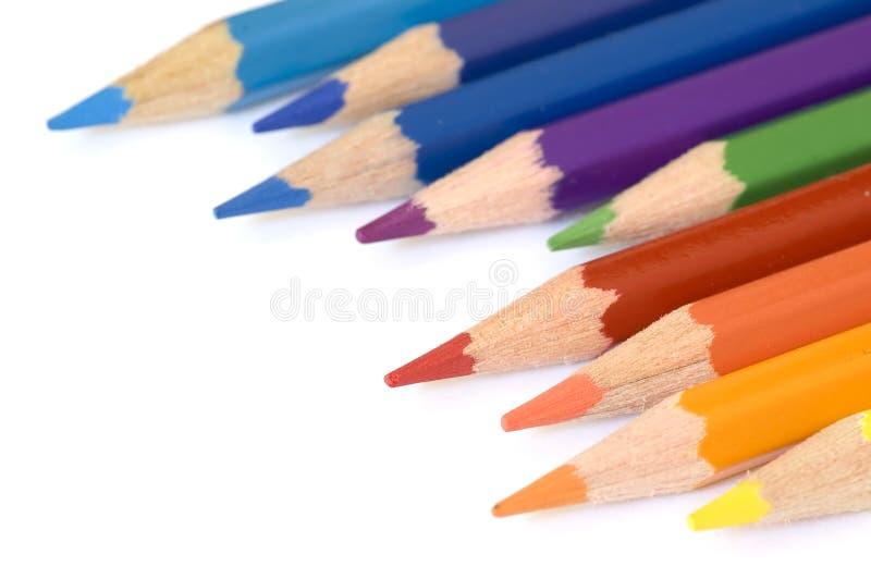 Potlood en kleur stock foto