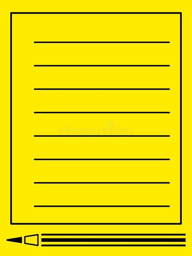 Potlood en nota vector illustratie