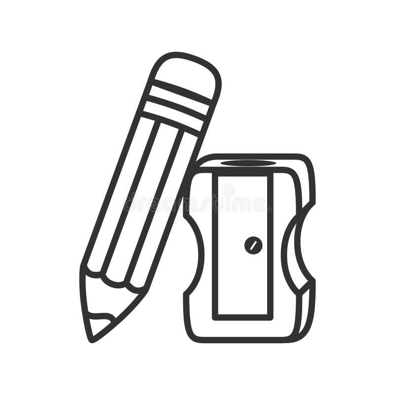 Potlood en Slijperoverzichtspictogram op Wit royalty-vrije illustratie