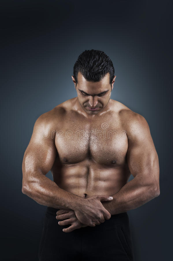 Free Poto Of Naked Athlete With Strong Body Stock Image - 22628891