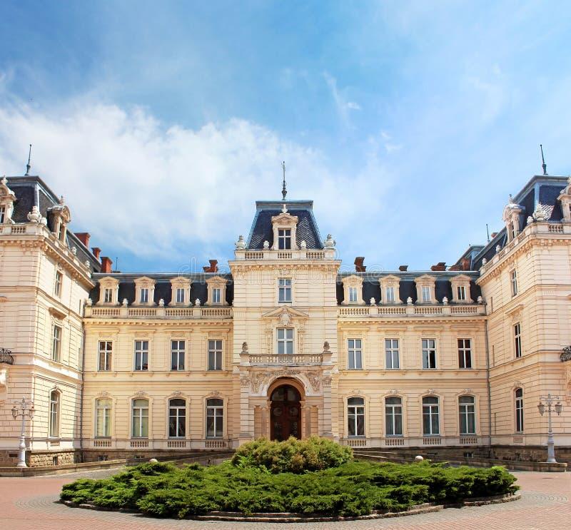 Potocki Palace in Lviv, Ukraine. Currently - Lviv National Art Gallery stock image
