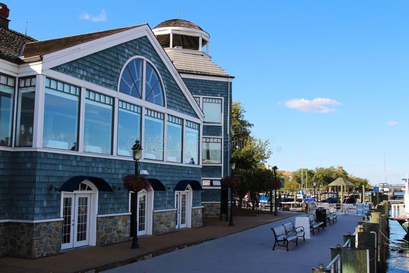Potomac River strand, gammal stad Alexandria, Virginia arkivfoton