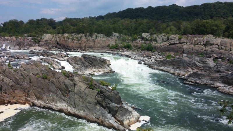 Potomac Rivier Great Falls Virginia royalty-vrije stock foto's