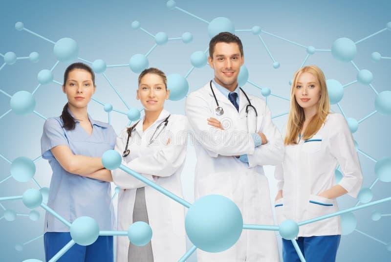 Potomstwa drużyna lub grupa lekarki zdjęcie royalty free