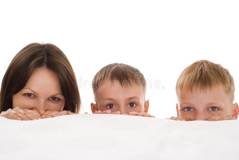 Potomstwa matkują z dziećmi fotografia royalty free