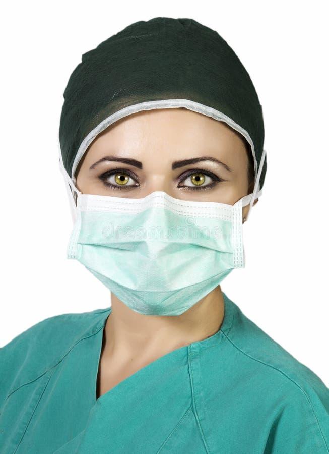 Potomstwa pielęgnują w sala operacyjnej obraz royalty free