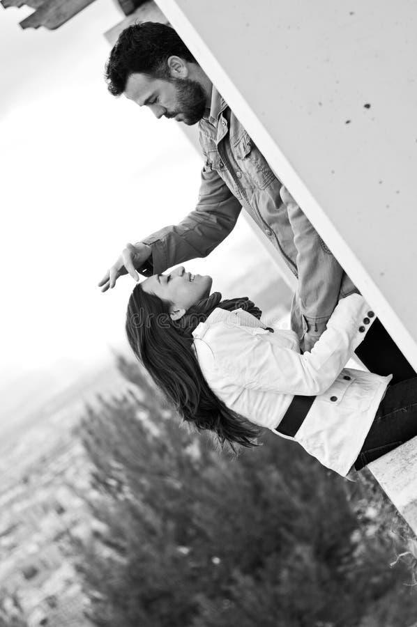 Potomstwo para w miłości zdjęcia royalty free