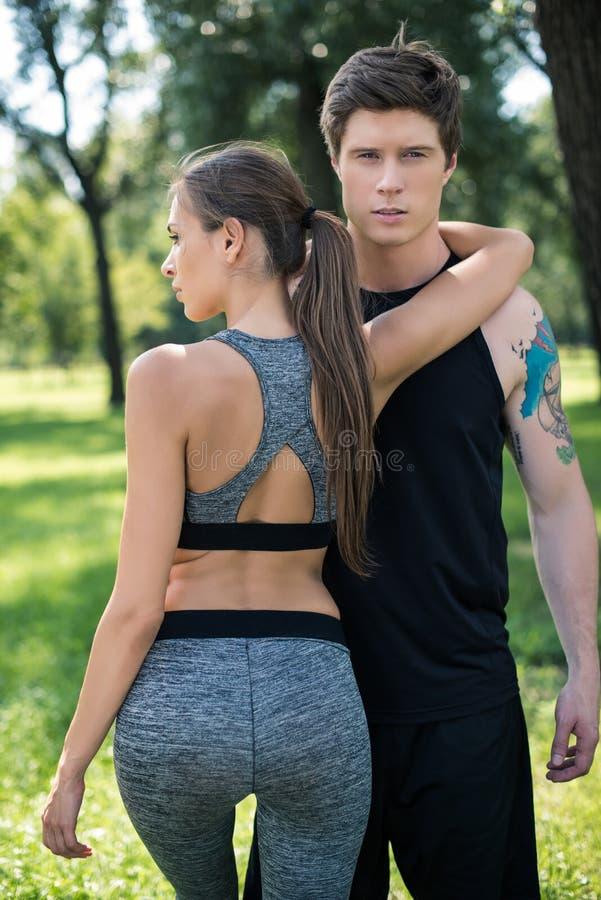 Potomstwo para w sportswear obrazy royalty free