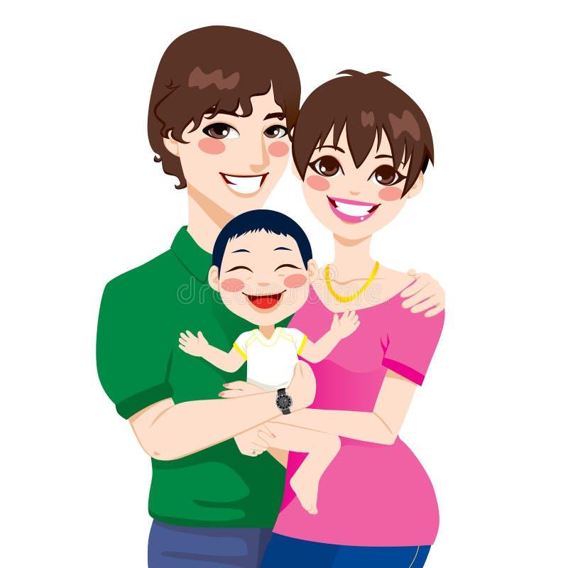 Potomstwo pary dziecko adoptowane ilustracja wektor