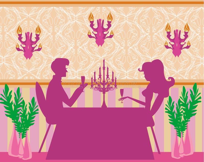 Potomstwo pary napoju szampan royalty ilustracja
