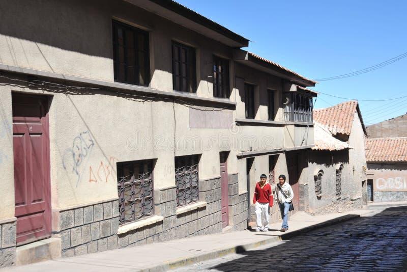 Potosi bolivië stock foto's