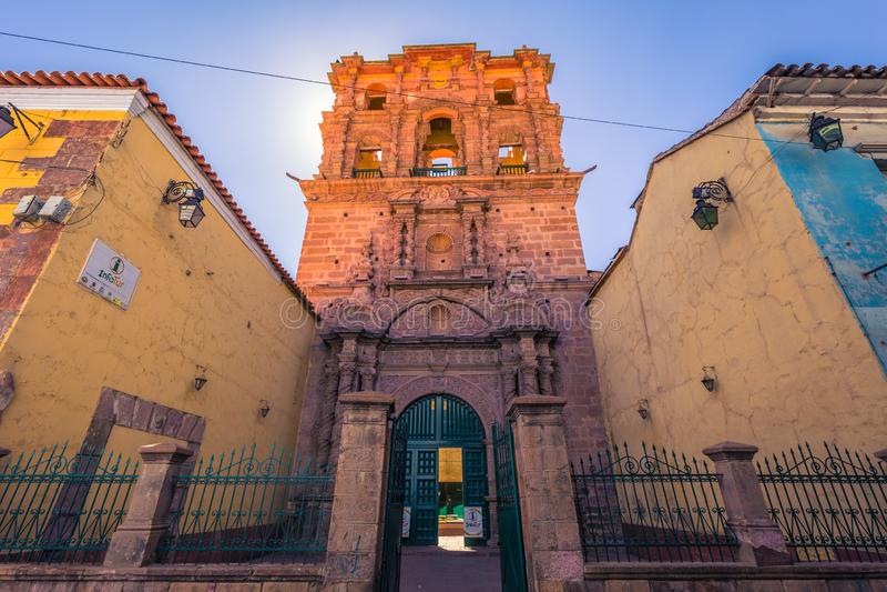 Potosi - July 22, 2017: Old church building in Potosi, Bolivia stock photos