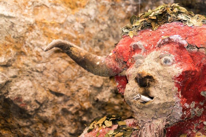 Potosi Mine Idol. El Tio, idol that miners in the mines in Potosi, Bolivia worship royalty free stock photography