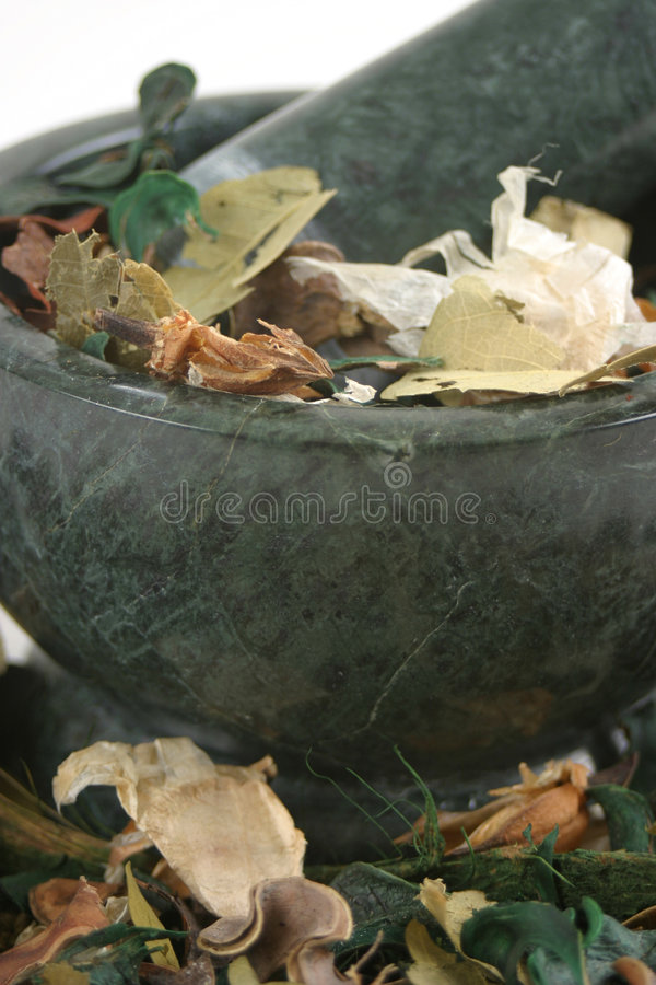 Free Potpourri With Pestle And Mortar Stock Images - 235594